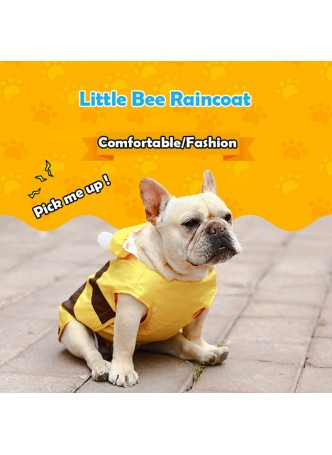 New Waterproof Clothing Large Puppy Rain Coat Little bee Clothes Teddy Dog Pet Coat Golden Retriever