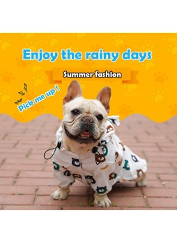 New Waterproof Clothing Large Puppy Rain Coat Bear cartoon Clothes Teddy Dog Pet Coat French Bulldog