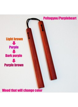 Micromalus style Purpleheart Wooden Nunchaku Nunchucks With Chinese Dragon Gift Bag