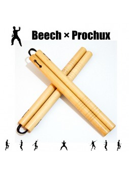 Beech 13.78in Wooden Prochux Martial Art Nunchaku Training Nunchucks
