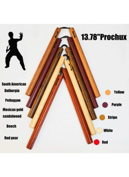 13.78in Wooden Prochux Martial Art Nunchaku South American Dalbergia Training Nunchucks