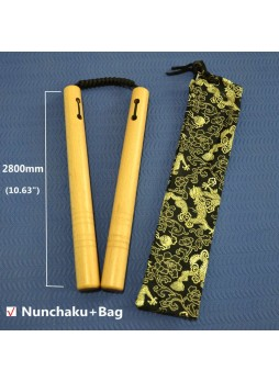 11inch Wooden Nunchuck Kung Fu Chinese Art Training Toy Martial Nunchaku BruceLee
